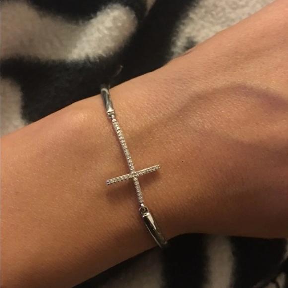 28a2fd8a0 Kay Jewelers Jewelry | Diamond Cross Bracelet | Poshmark
